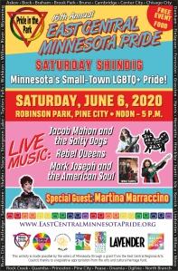 EastCentralMinnesotaPride 2020 Flier